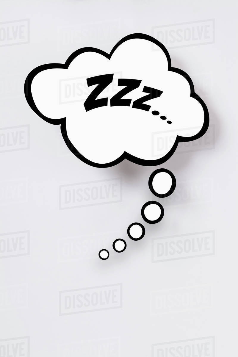 Snoring sign in thought bubble against gray background   Stock 800x1200