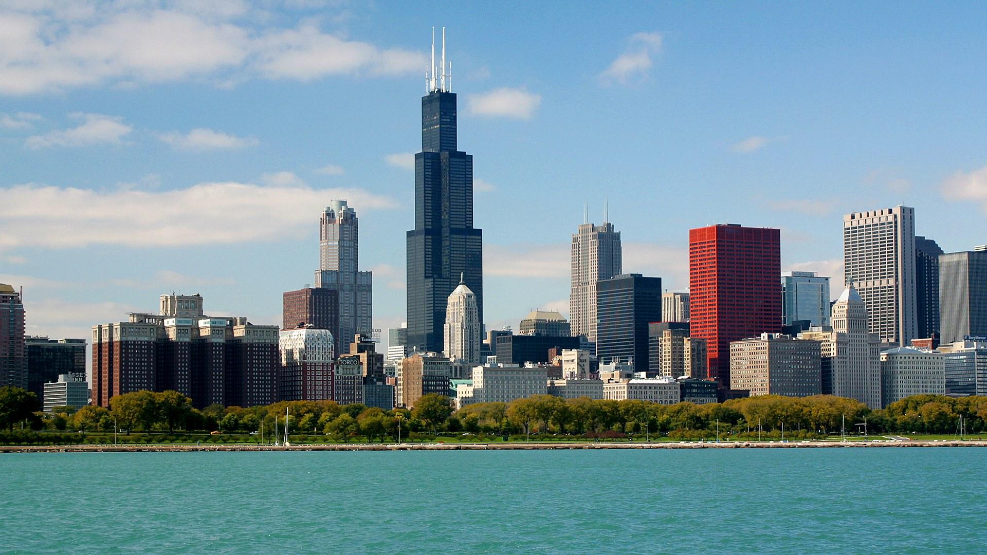 1920x1080px chicago skyline wallpaper wallpapersafari - Chicago skyline wallpaper 1920x1080 ...