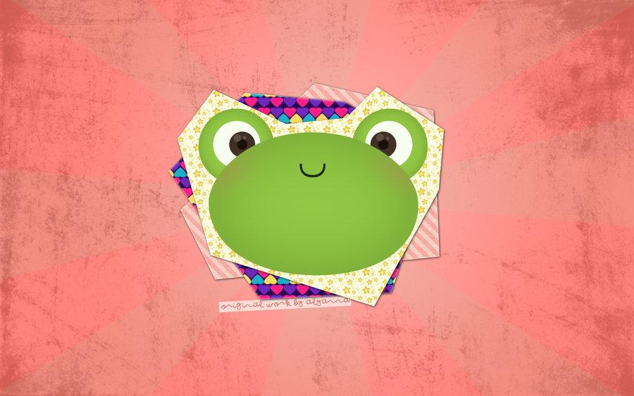 Cute Frog Wallpaper by cielobear 900x563