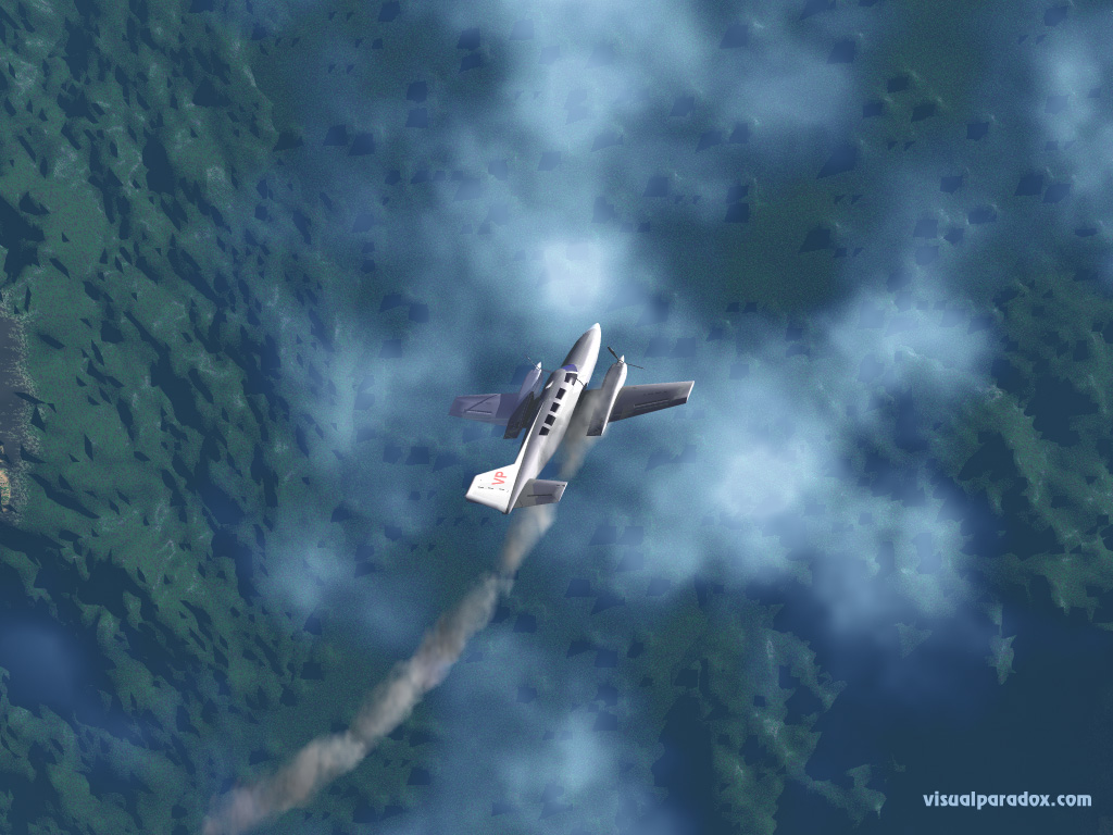 Airplane Crash Wallpaper 1024x768