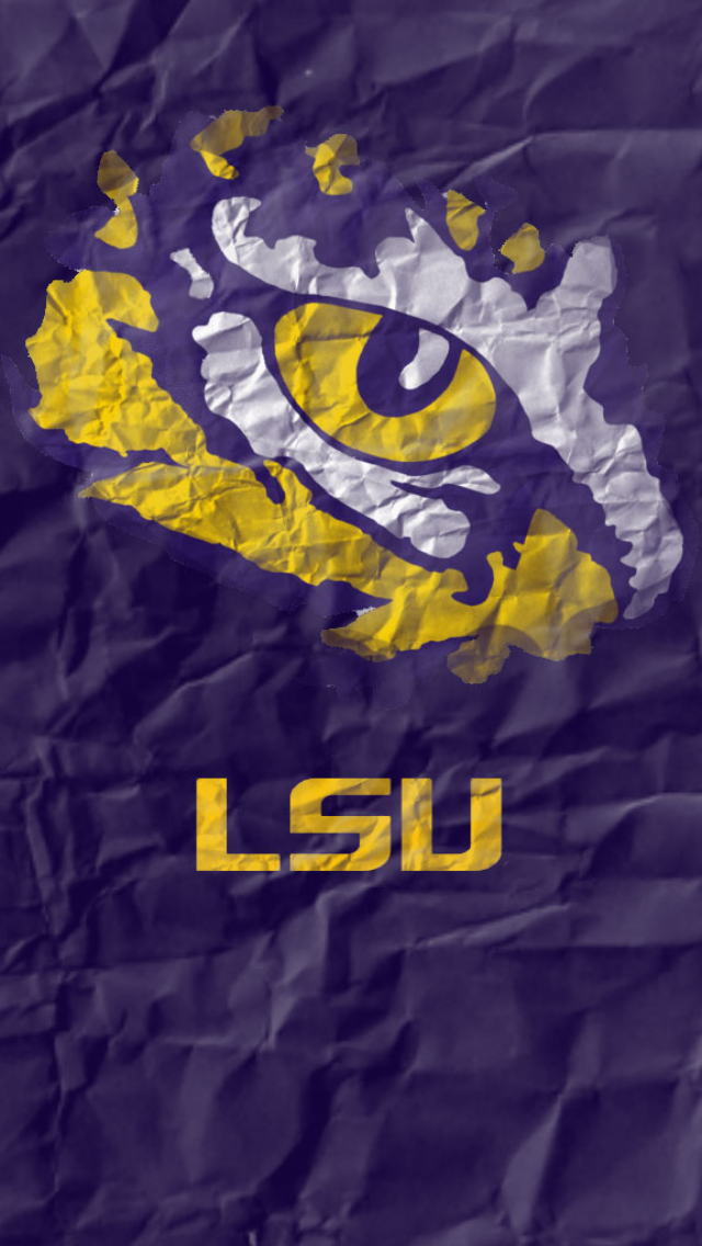 Crumpled Paper LSU iPhone 5 Wallpaper 640x1136 640x1136