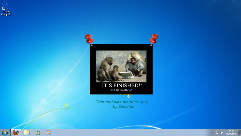 Como mudar o wallpaper do Windows 7 Starter WindowsNET 1360x768