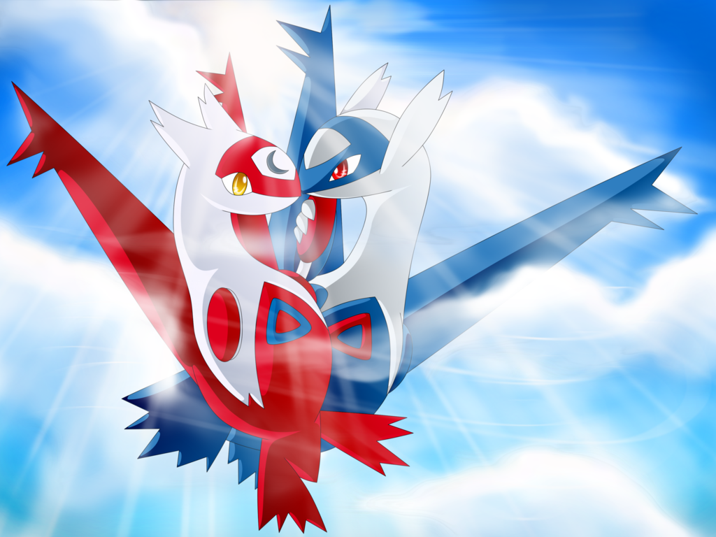 Download Latias and Latios Shimmer by Gem n Ems [1024x768] 50 1024x768