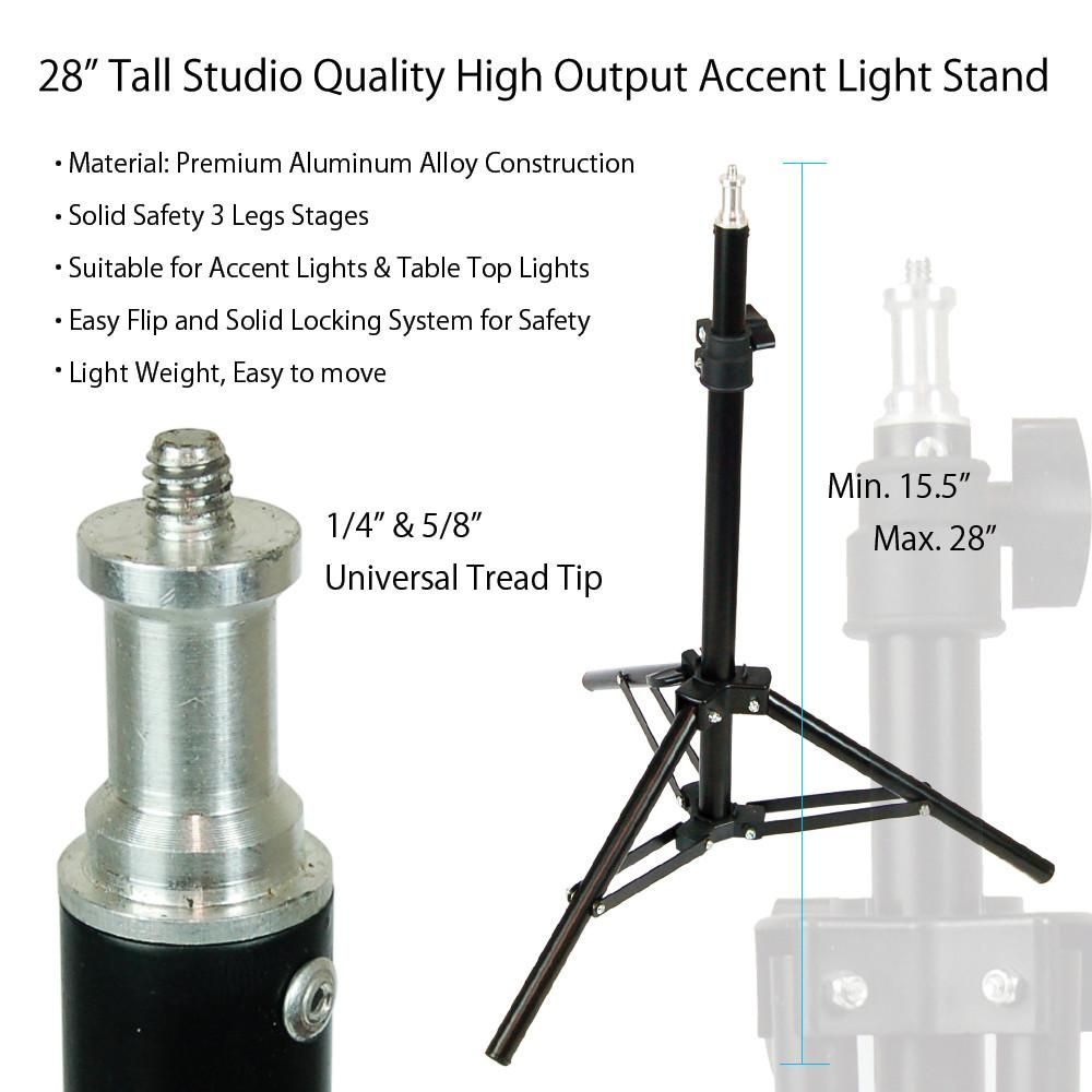 28 Aluminum Alloy Kicker Light Background Lighting Stand for 1000x1000