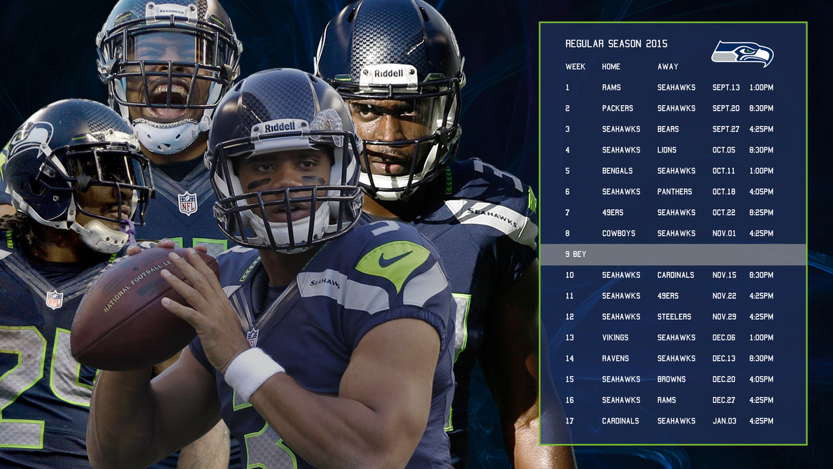 image relating to Seattle Seahawks Printable Schedule titled 48+] Seahawks 2016 Program Wallpaper upon WallpaperSafari