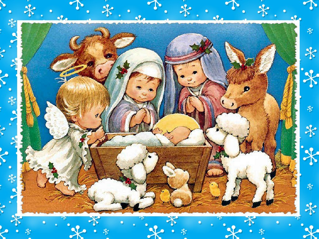Christmas Nativity Wallpaper Wallpapers Amp Backgrounds 1024x768