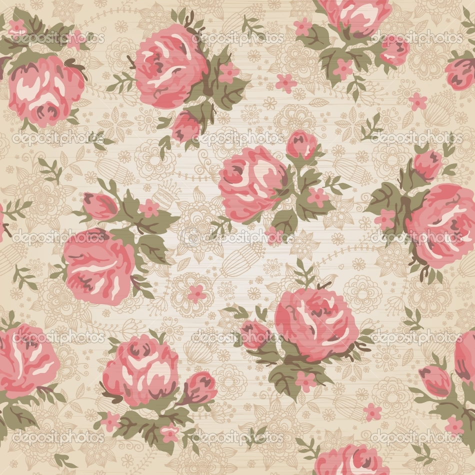 48 Antique Flower Wallpaper On Wallpapersafari