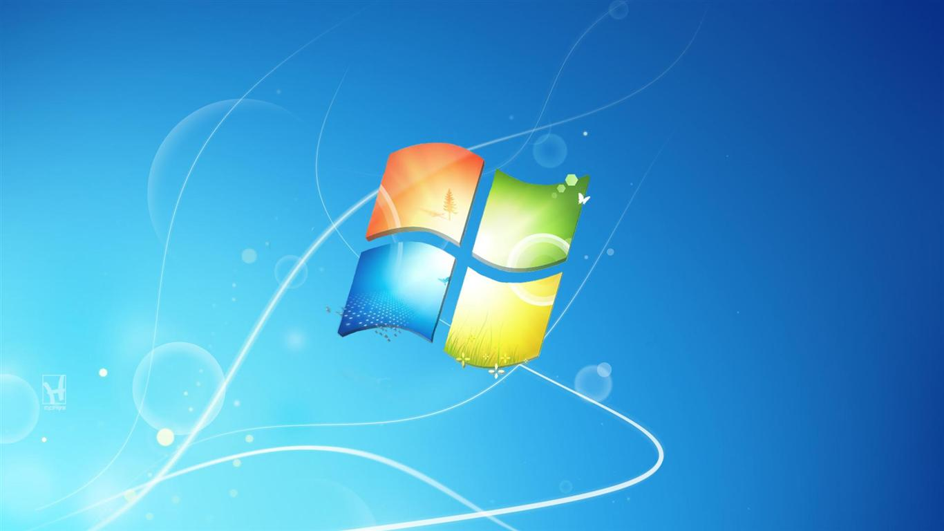 1366x768 cool blue background windows xp system widescreen wallpaper 1366x768
