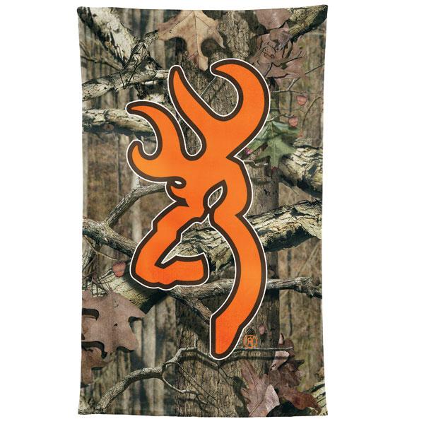 Browning Mossy Oak Camo Hunters Orange Beach Towel 600x600