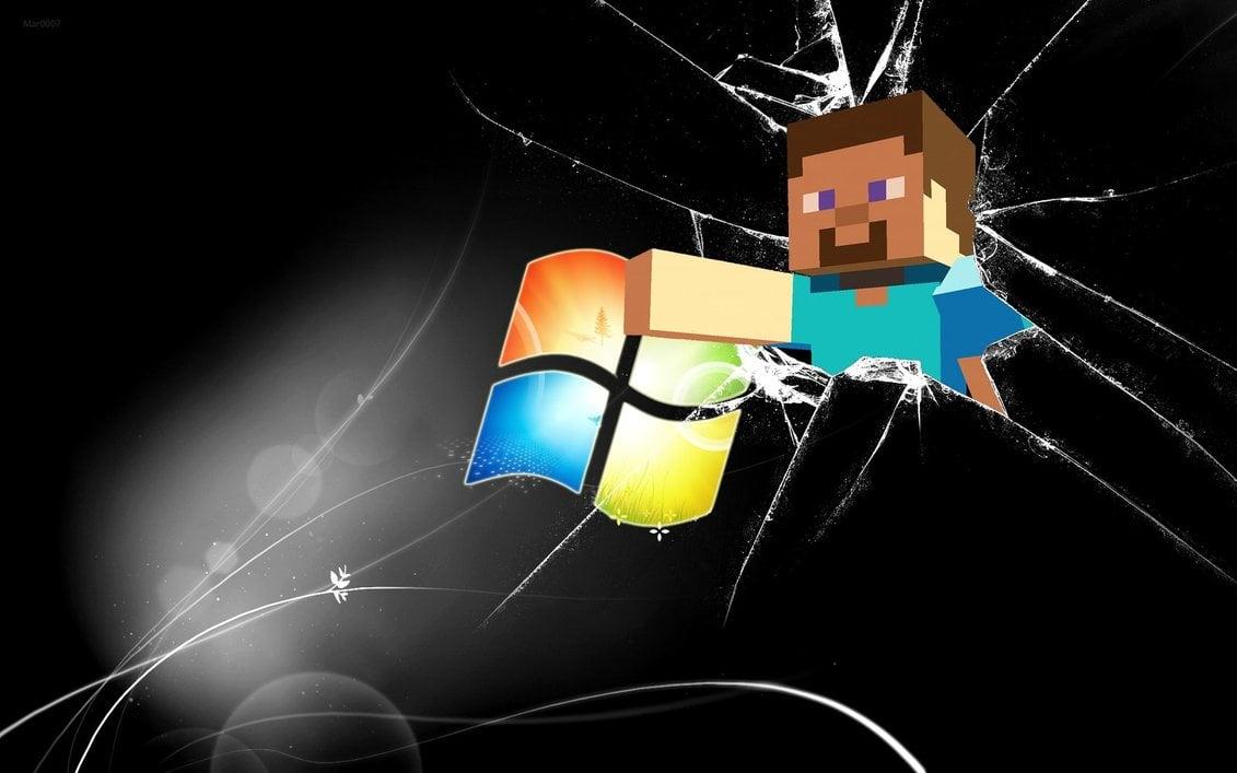 Minecraft Steve Windows Wallpaper by AlduinTheW0rld3ater 1131x707