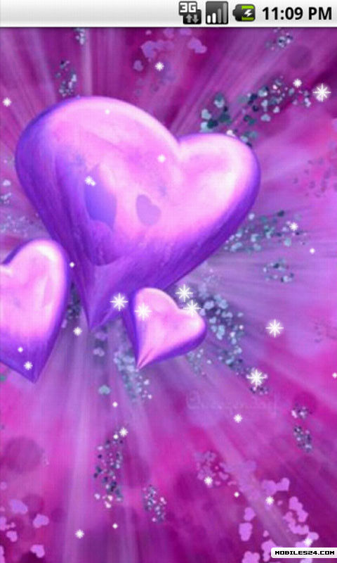 Purple Heart Love Live Wallpaper Android App download Download 480x800