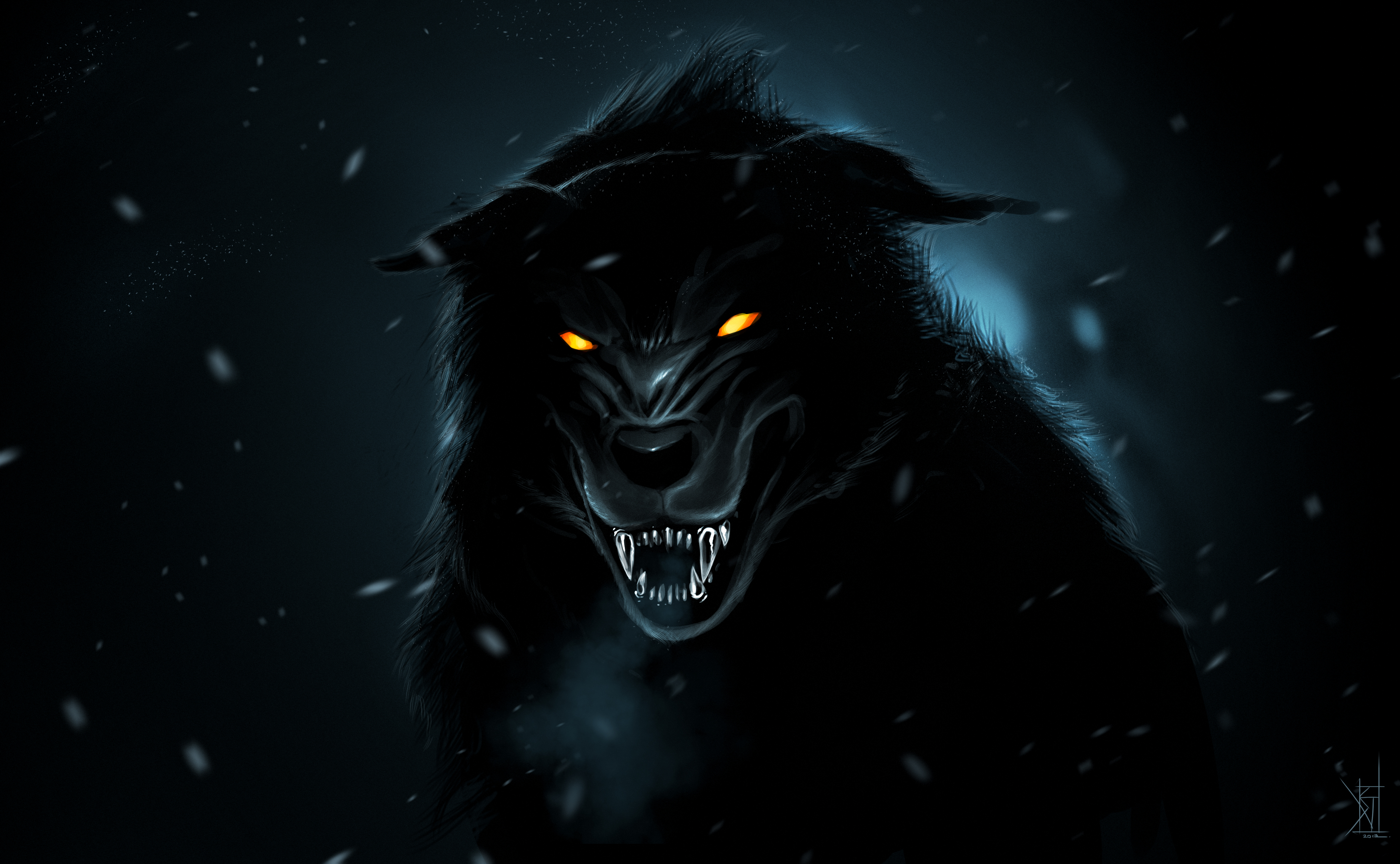 Black Wolf by TheRisingSoul 4152x2561