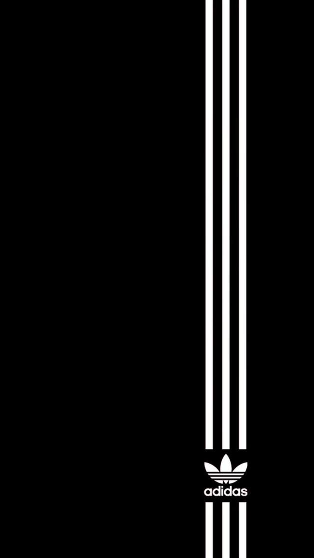 Simple Adidas Logo Wallpaper - Free iPhone Wallpapers