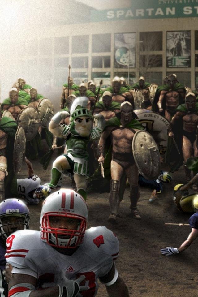 football big ten ncaa michigan state spartans 1680x1050 wallpaper 640x960