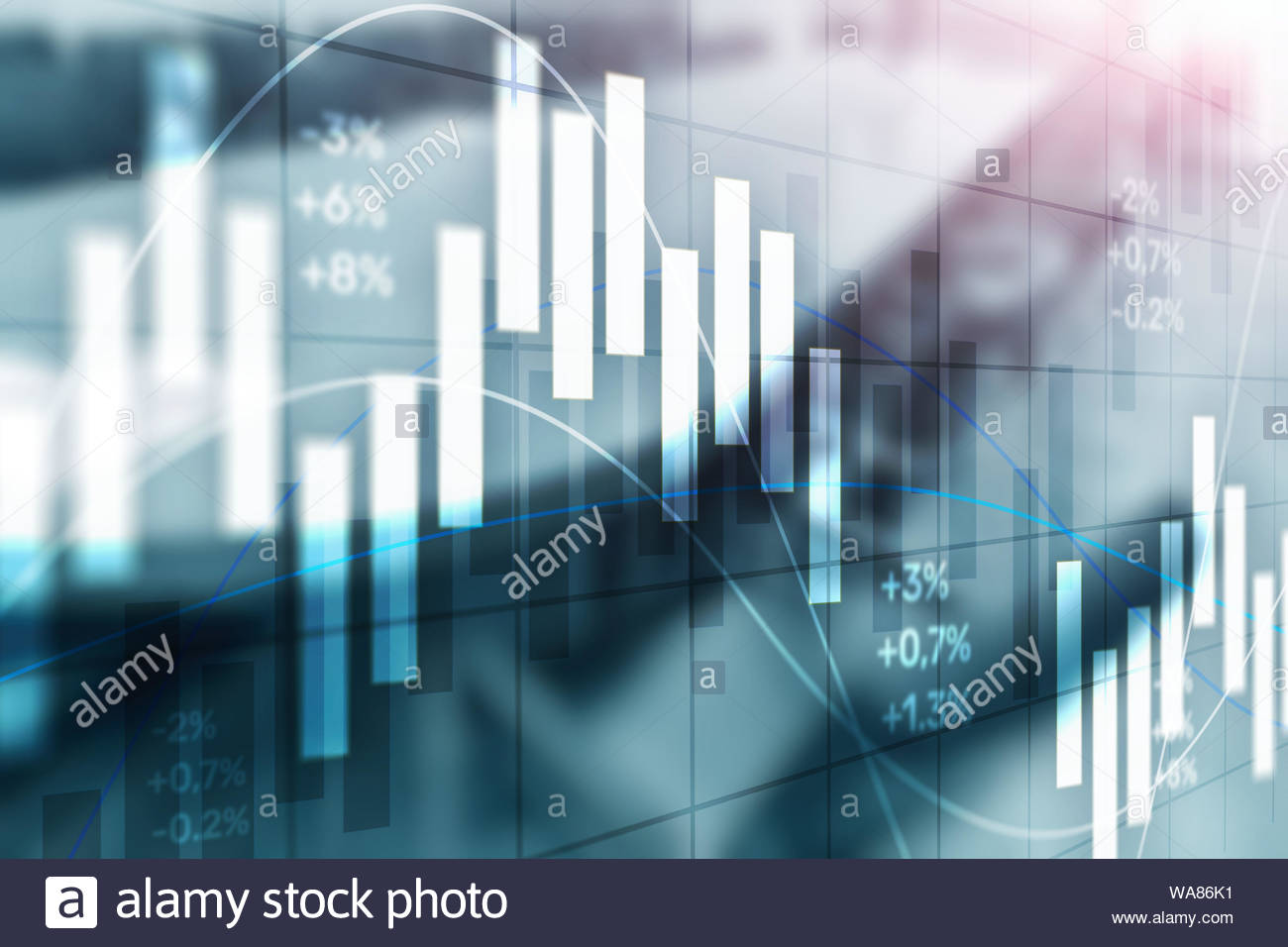 Stock exchange background Abstract finance wallpaper Blurred 1300x956