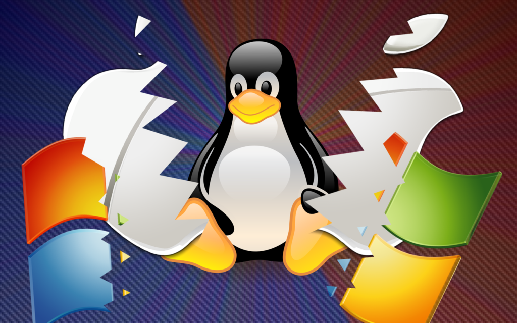 Linux VS Windows and Mac Wallpaper 1440x900 by TheKrzysiekArt on 1024x640