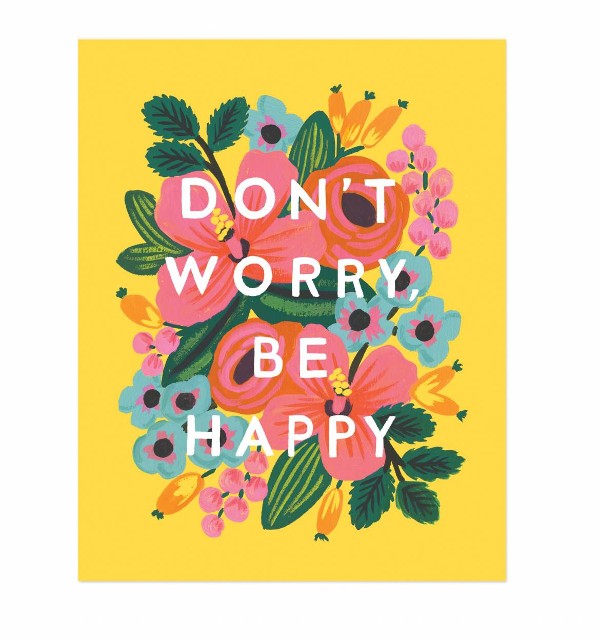 don t worry be happy illustrated art print home shop art prints don t 1170x1248