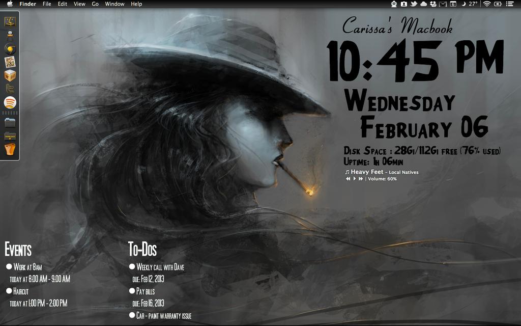 Film Noir Geektool Desktop by rissfairy 1024x640
