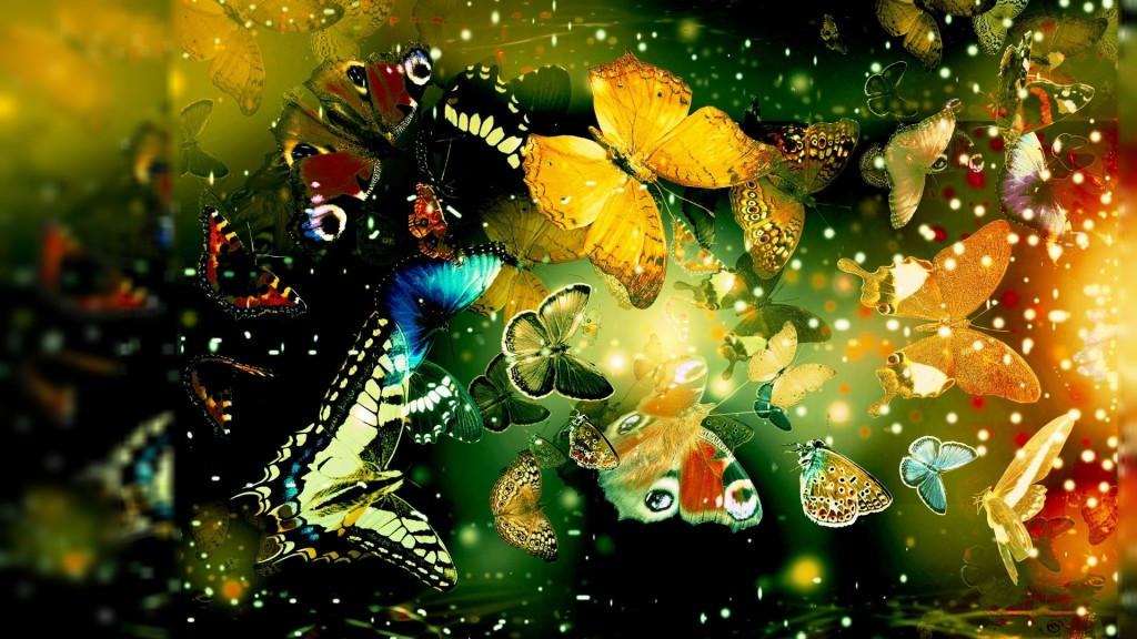 Colorful Abstract Butterflies Home HD Wallpaper Unique HD Wallpapers 1024x576