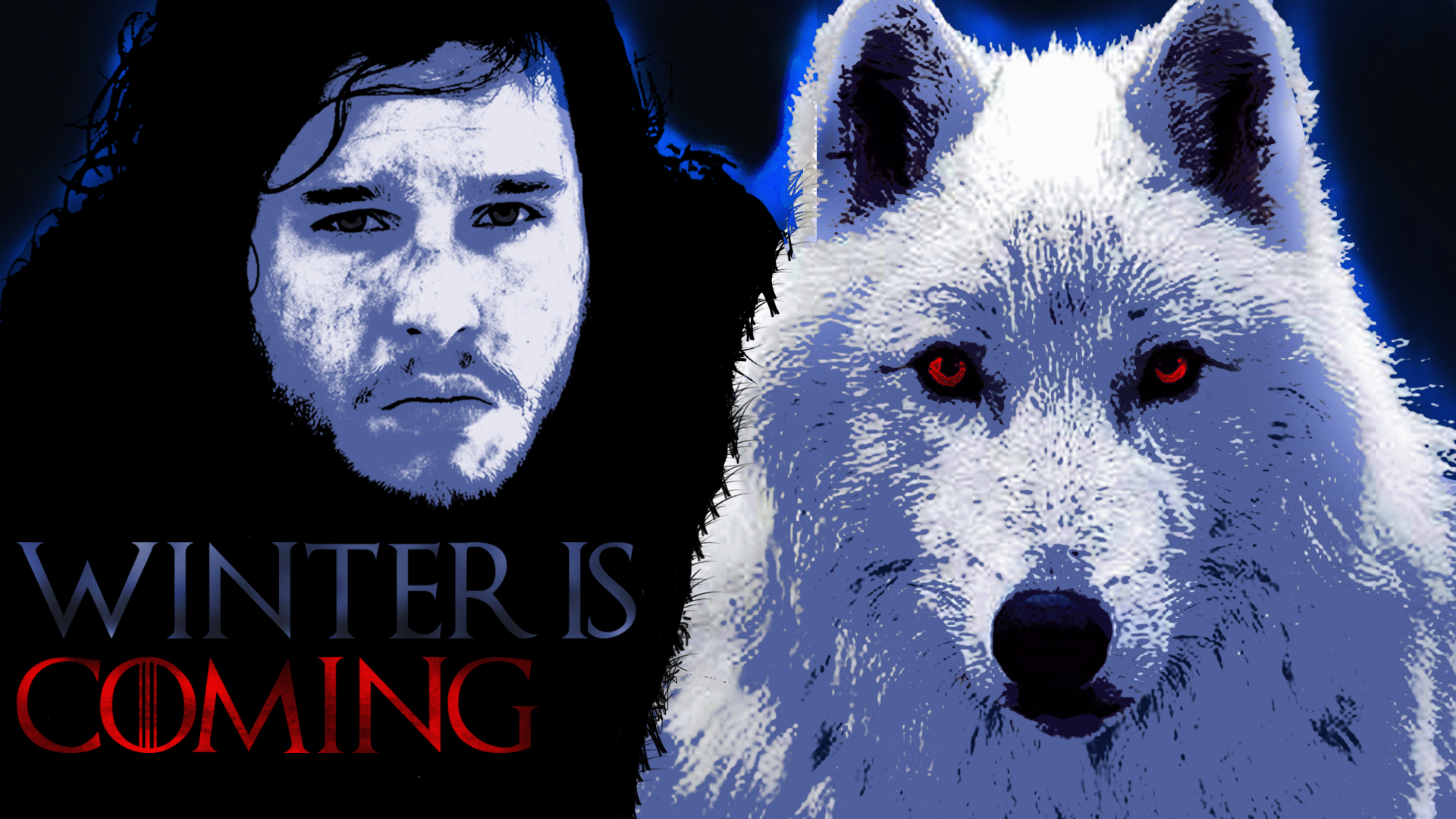 Jon Snow Stark Winter is coming blue game of thrones wallpaper 1920x1080