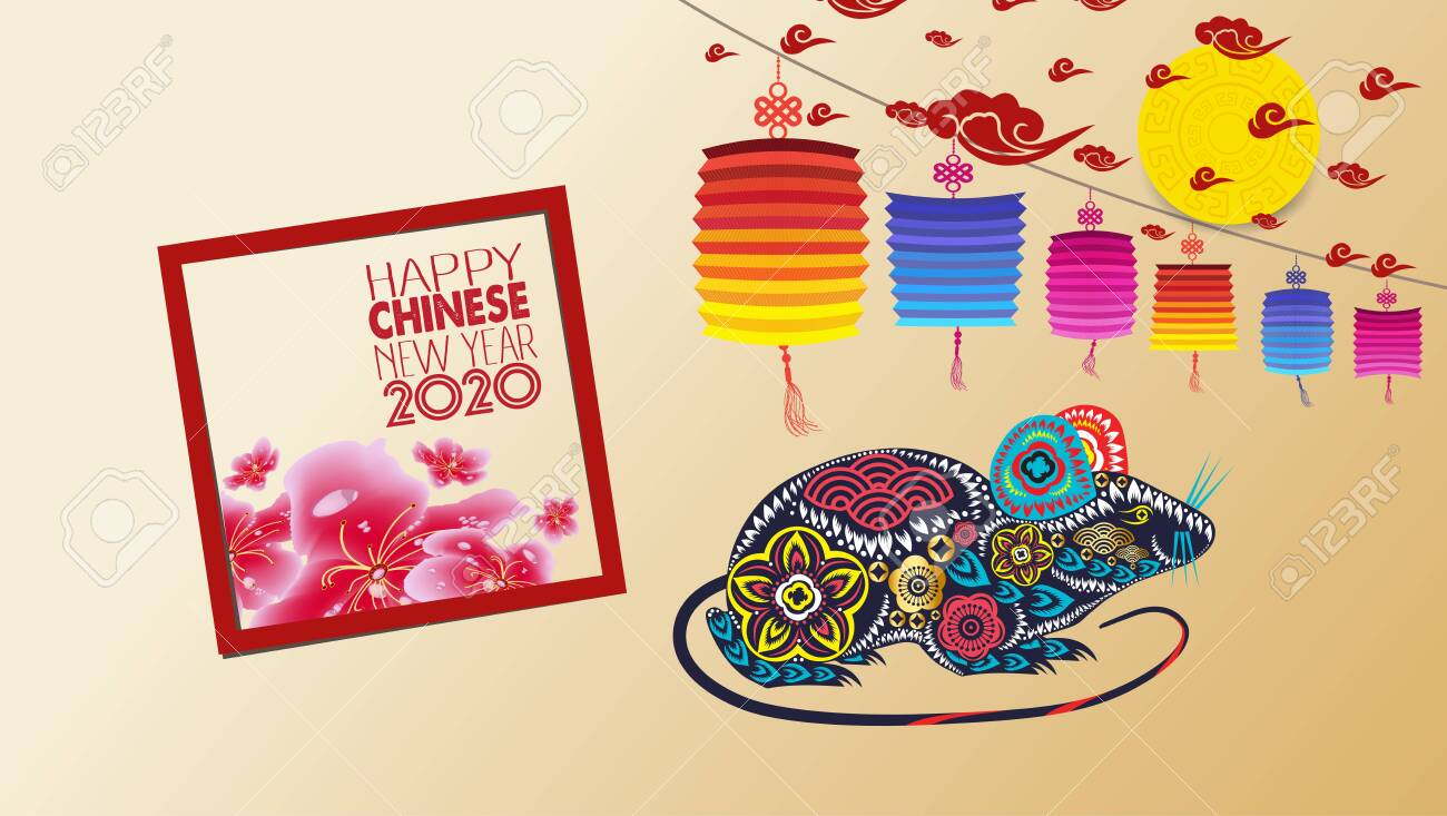 Chinese New Year 2020 With Blossom Wallpapers Year Of The Rat 1300x733