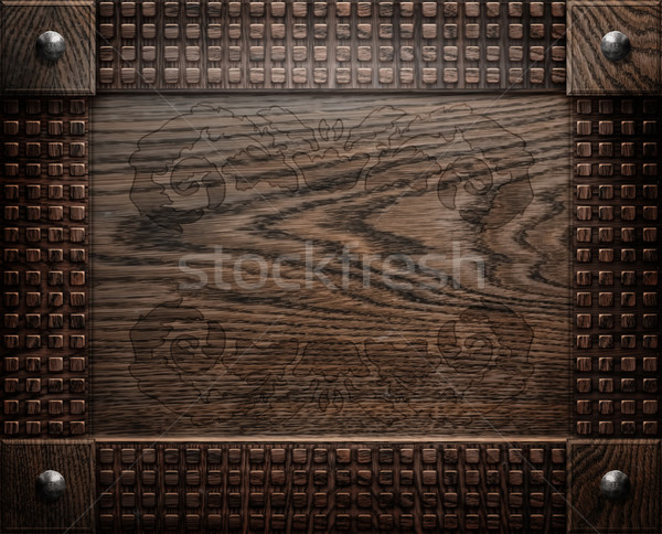Stock photo darck old wooden background texture antique furniture 600x484