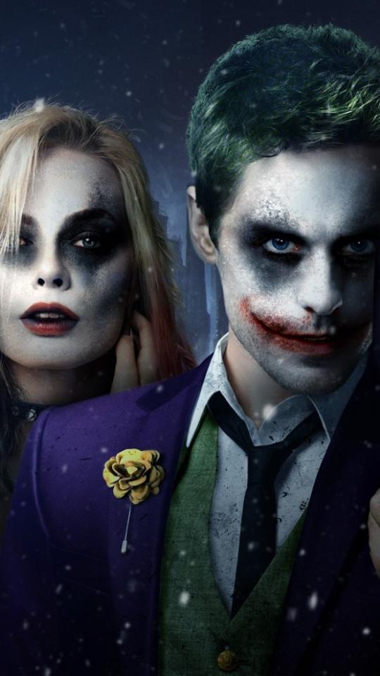 540x960 Suicide Squad 2016 Jared Leto Margot Robbie Wallpaper