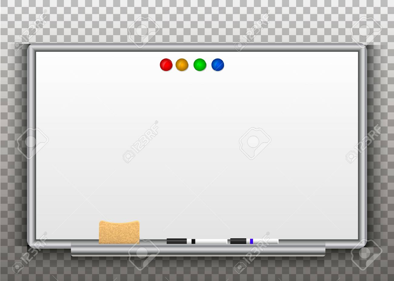 Whiteboards Isolated On A Transparent Background Vector Royalty 1300x928