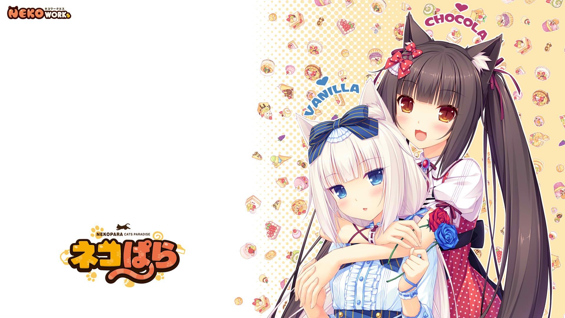 Anime 1920x1080 Neko Para Chocolat Neko Para Vanilla Neko Para 1920x1080