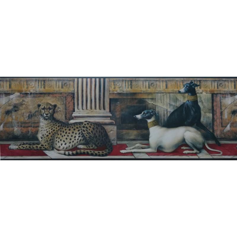 Wallpaper Border Animals Nature Egyptian Theme Dog Leopard 800x800