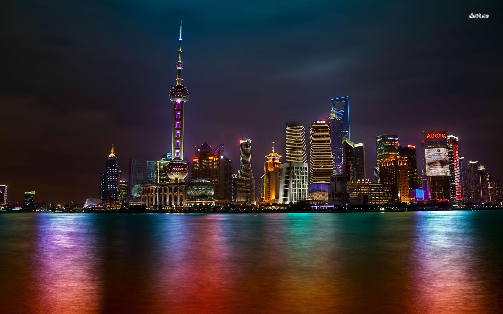Shanghai at night wallpaper   World wallpapers   17572 1680x1050