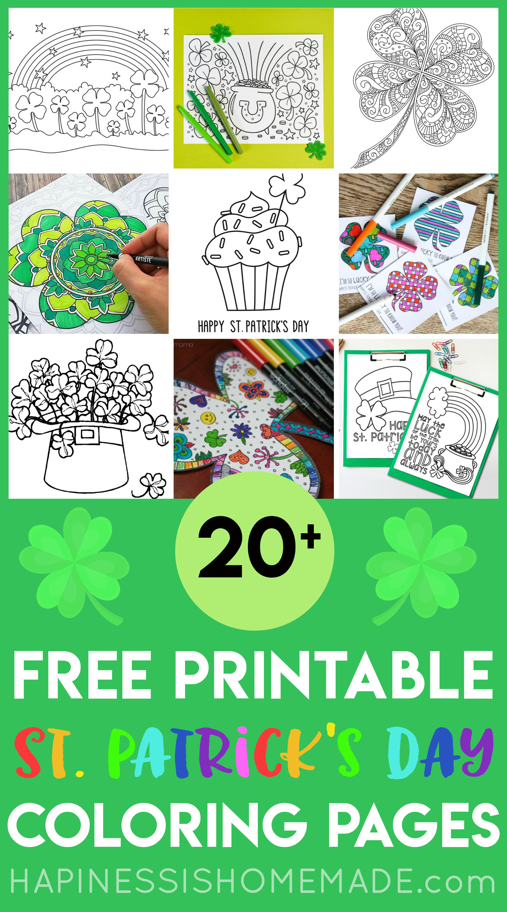 St Patricks Day Coloring Pages   Happiness is Homemade 2000x3595
