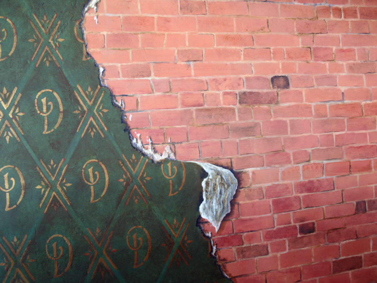 Faux brick and trompe loeil 1200x900