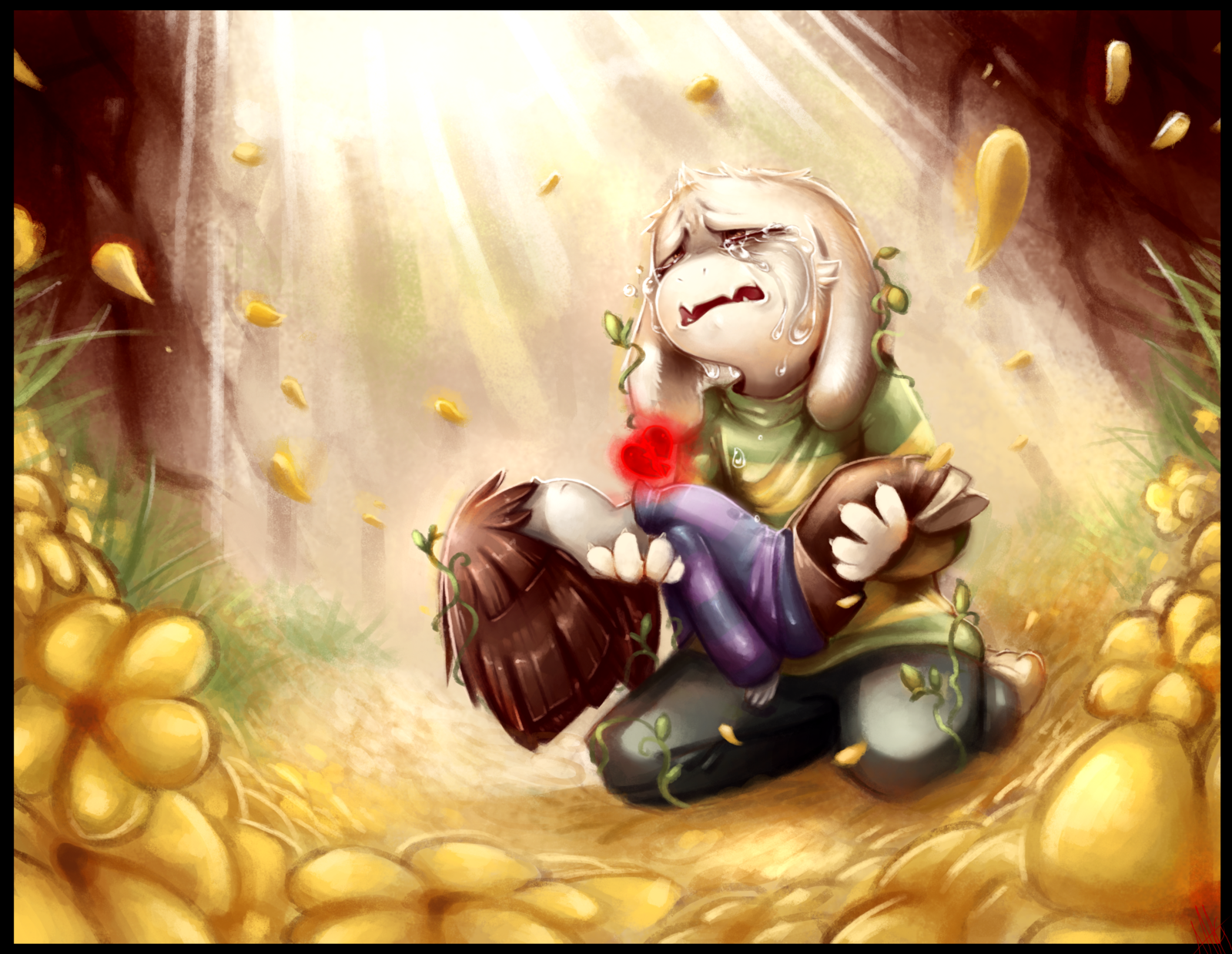 Couldnt Save them   Undertale Asriel by WalkingMelonsAAA on 1600x1239