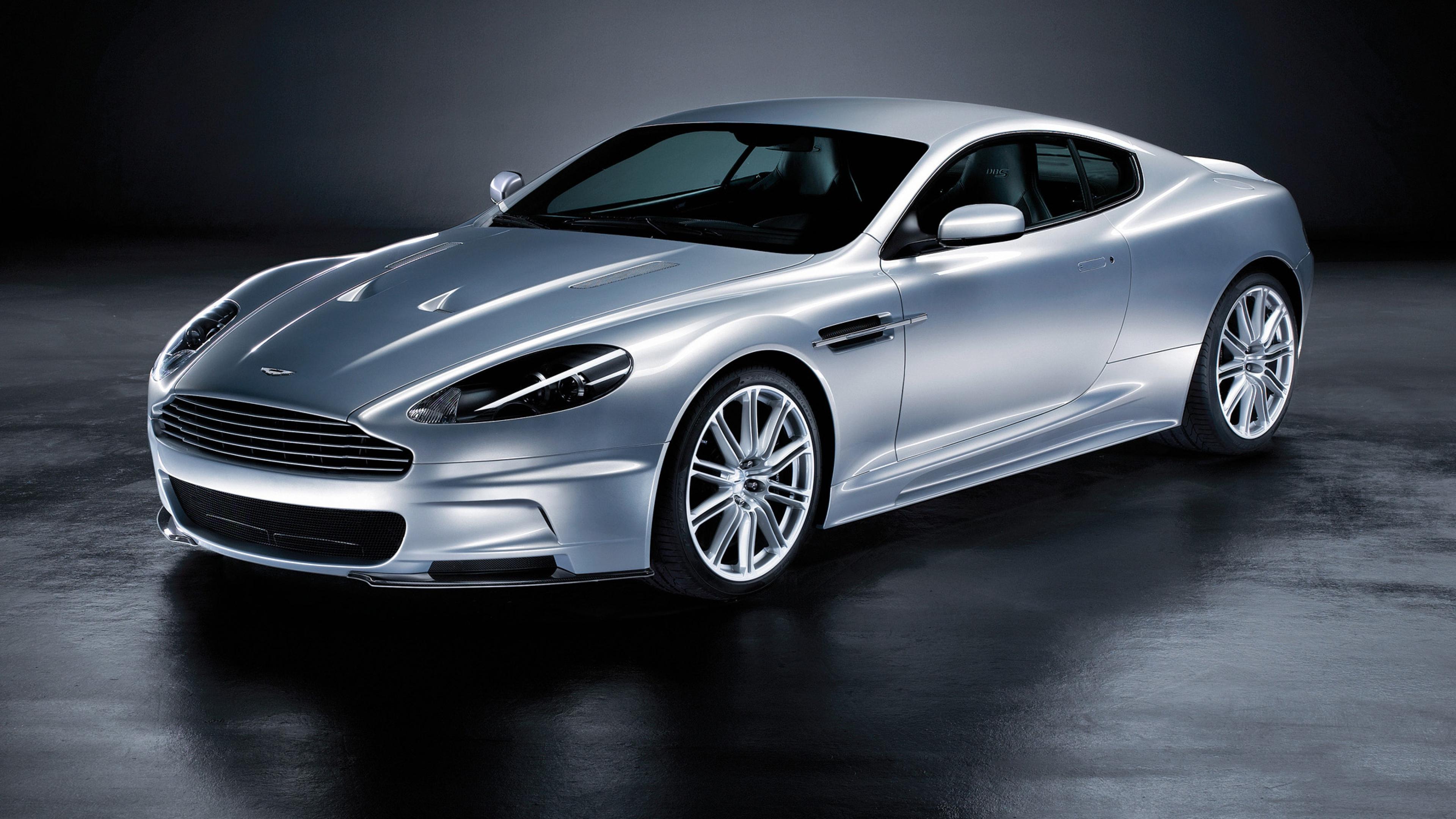 Download 3840x2160 Aston martin Dbs 2008 Silver metallic Side view 3840x2160
