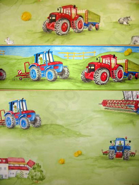 Tractor Green Wallpaper Border 5m 487x650