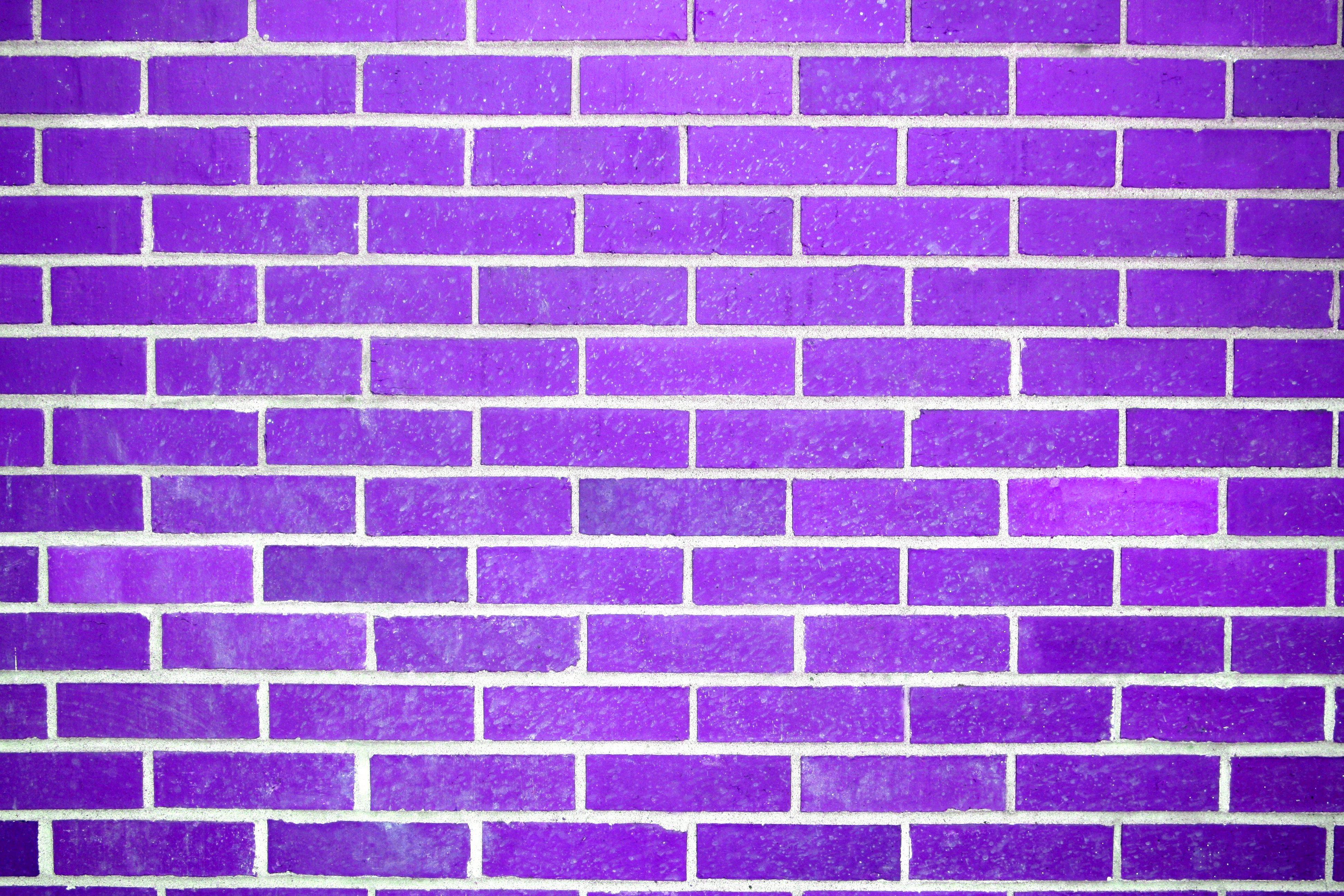 Purple Brick Wall Texture Picture Photograph Photos Public 3888x2592