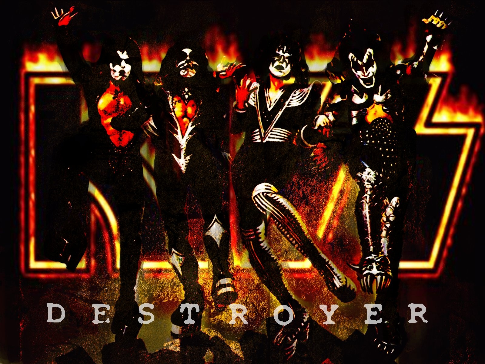 43] Rock Band Kiss Wallpapers on WallpaperSafari 1600x1200