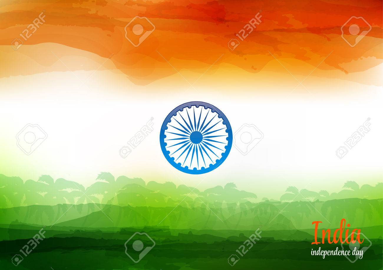 Indian Independence Day Watercolor Background Background Of 1300x918