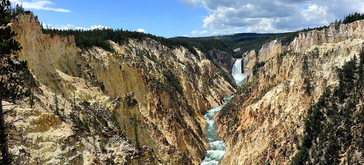 Yellowstone Lower Falls Background Image for History Page US 1170x531