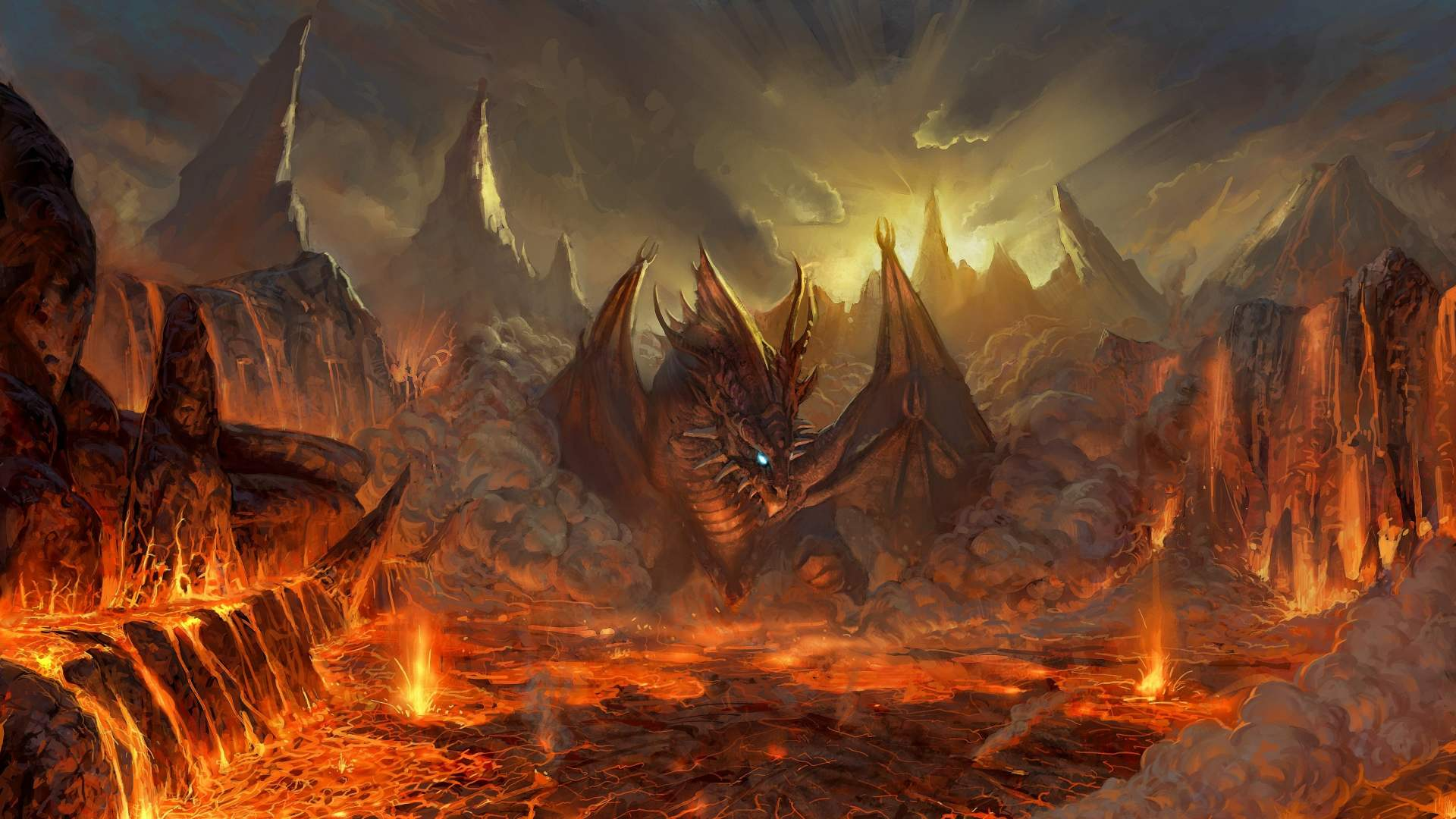 Resolution Fantasy Dragon Fire Wallpaper HD 10   SiWallpaperHD 1120 1920x1080