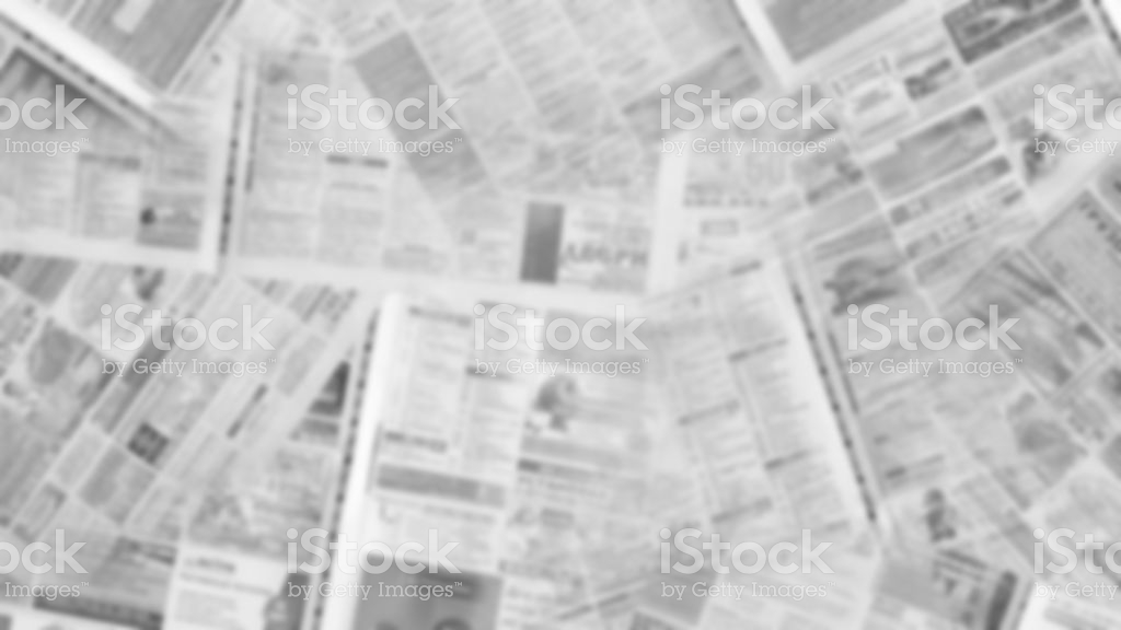 Blurred Newspaper Background Stock Photo   Download Image Now   iStock 1024x576