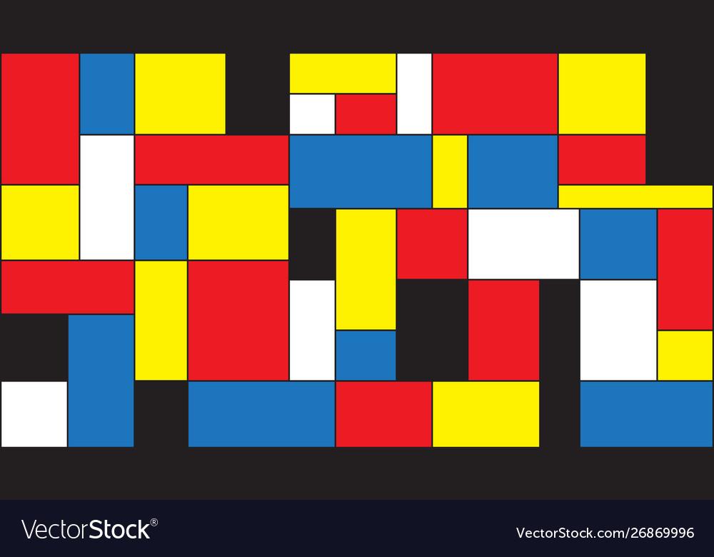 Mondrian background Royalty Vector Image   VectorStock 1000x780