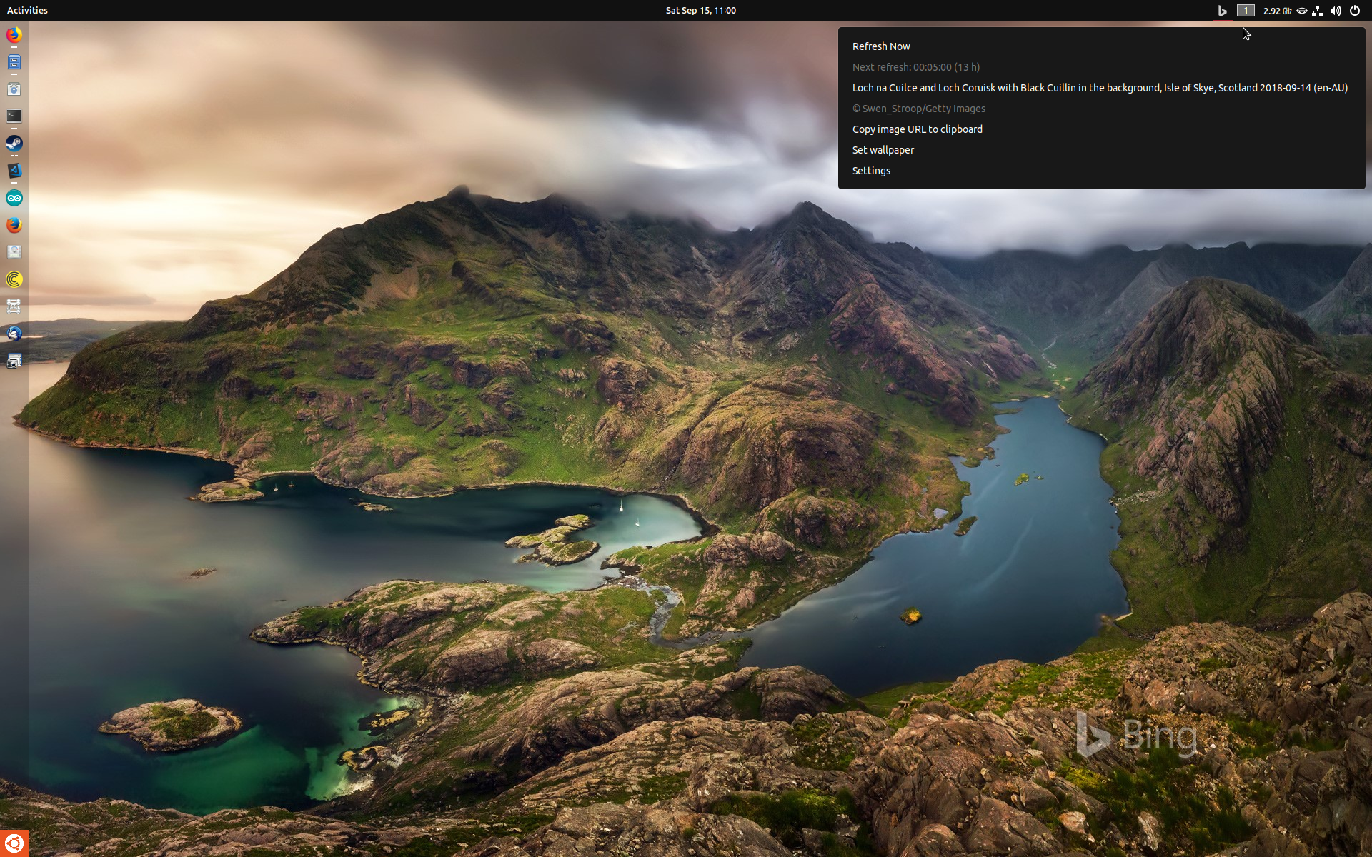 Bing Wallpaper Changer   GNOME Shell Extensions 1920x1200