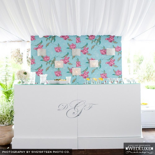 Betsey Johnson esk wallpaper back drop Wedding on the Rocks Pin 500x500