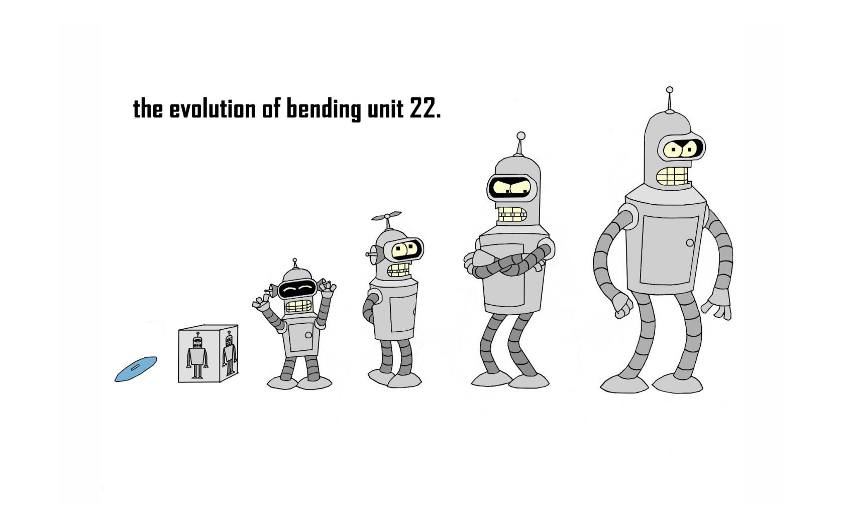 Futurama Bender Wallpaper 1680x1050 Futurama Bender Evolution 1680x1050