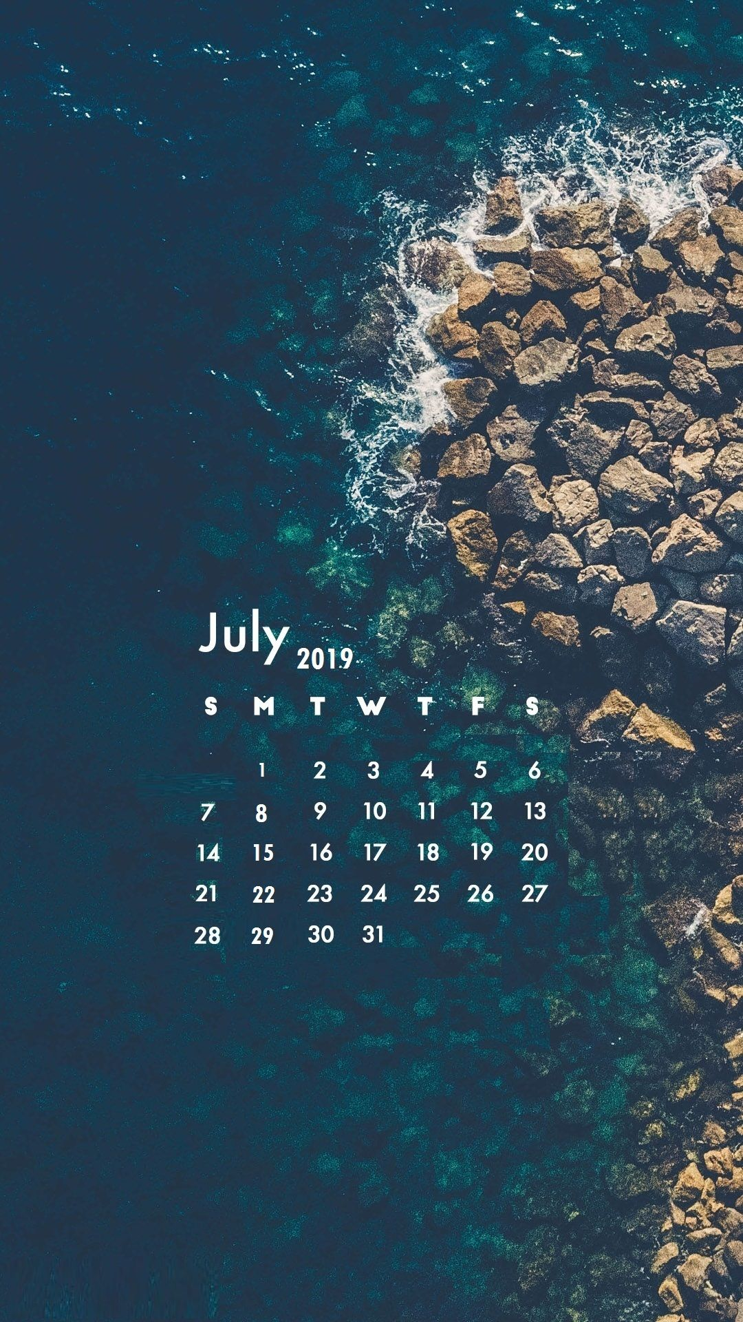 July 2019 iPhone Calendar wallpaper july july2019calendar 1080x1920