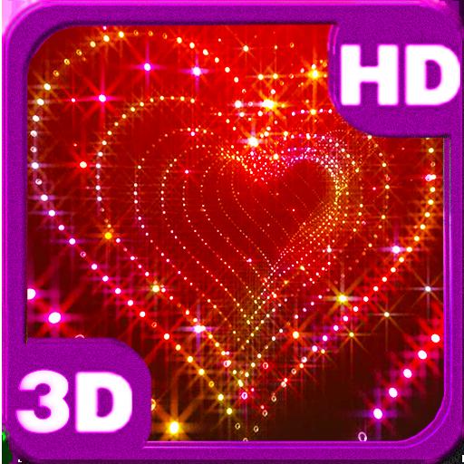 Love Hearts Glitter Sparkle 3d glitter heart live 512x512