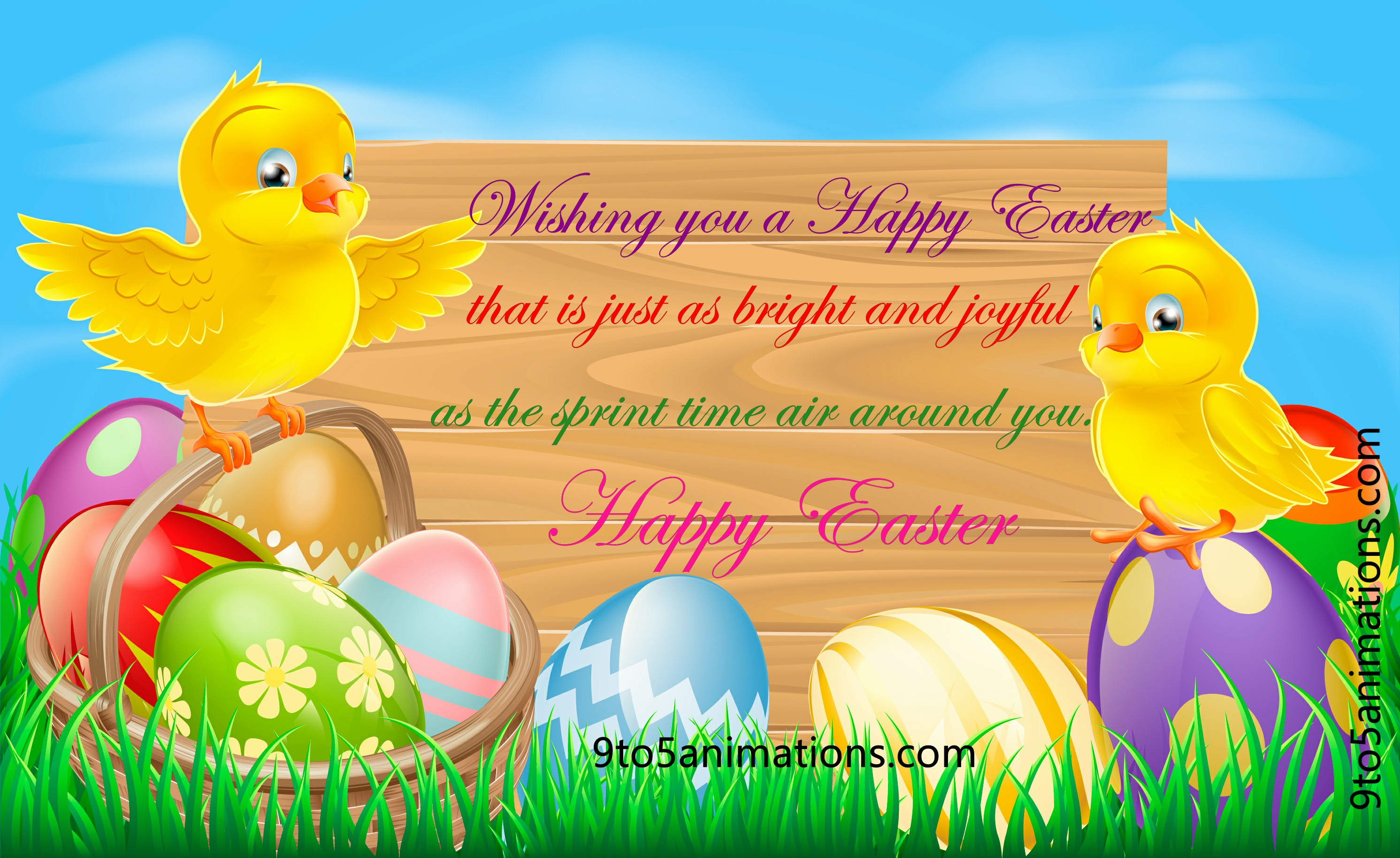 Easter Wishes High Definition Wallpapers 2983x1829