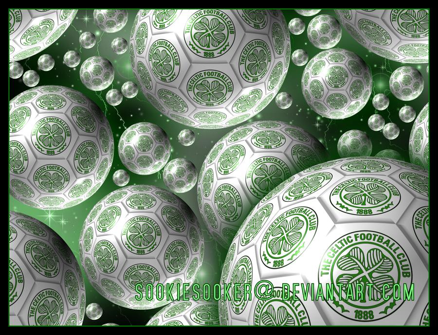 Celtic FC Football Space Wall by Sookie by sookiesooker 900x689